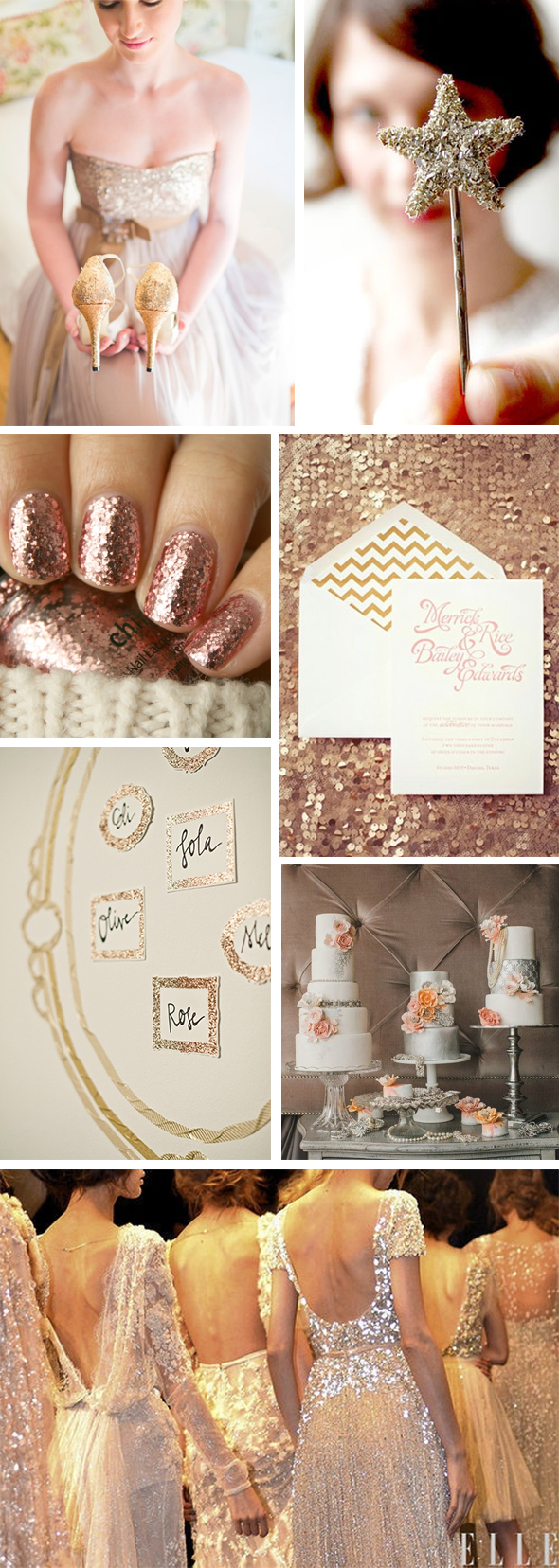blush gold wedding Sparkle Weddings