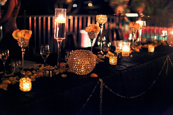 candlelit wedding Lake Las Vegas Destination Wedding