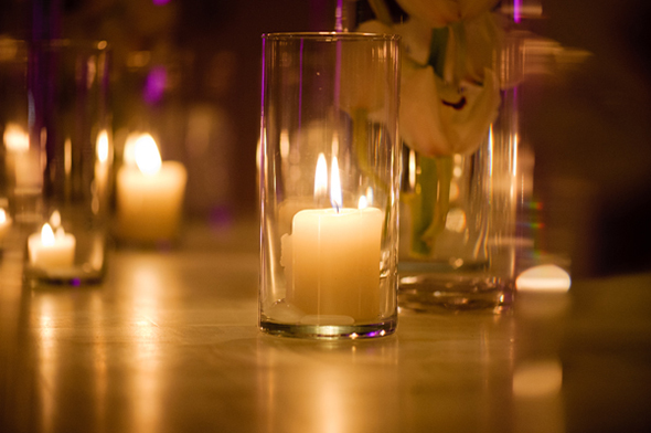 candlelit wedding