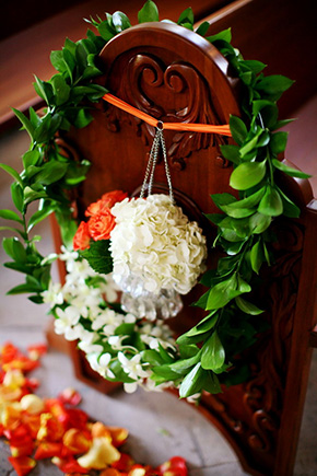church wedding flowers One&Only Palmilla Destination Wedding