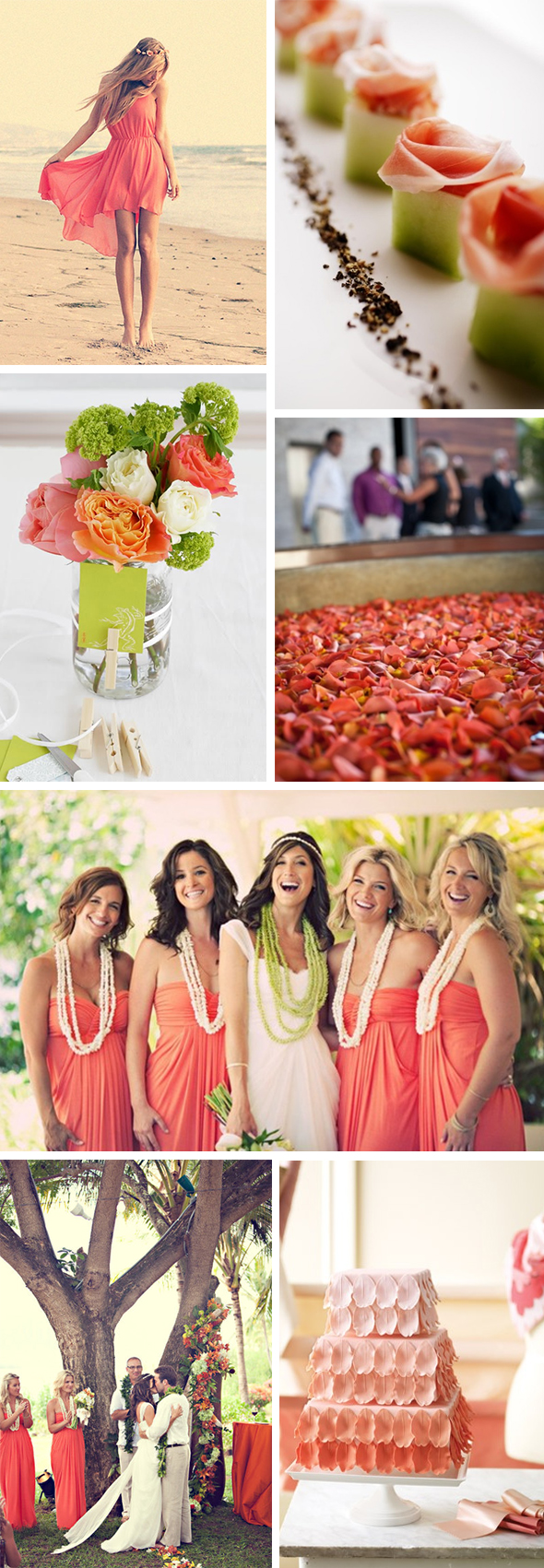 coral and green wedding ideas