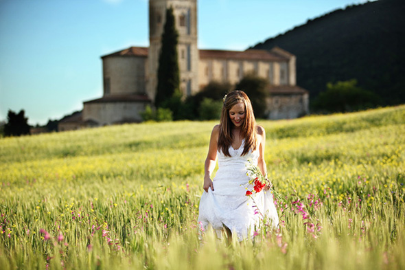 destination wedding day after shoot Tuscany, Italy Bridal Portrait Photo Shoot