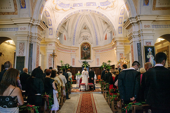 italy wedding church Red, White and Green Destination Wedding in Bagnolo Piemonte, Italy