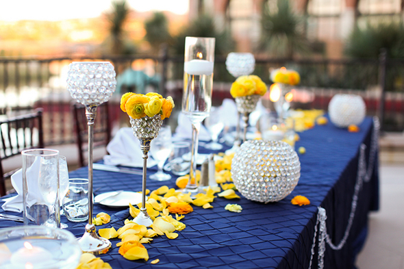 purple and yellow wedding Lake Las Vegas Destination Wedding