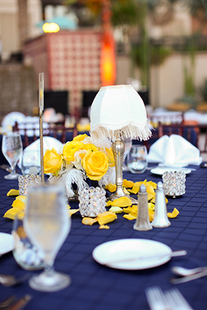 purple and yellow weddings Lake Las Vegas Destination Wedding