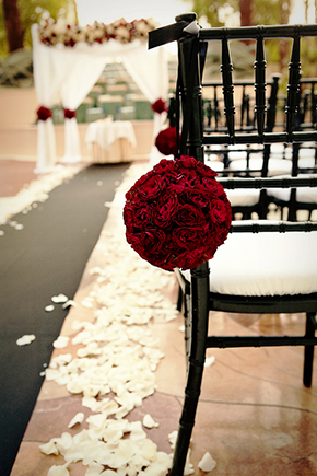 red and white weddings