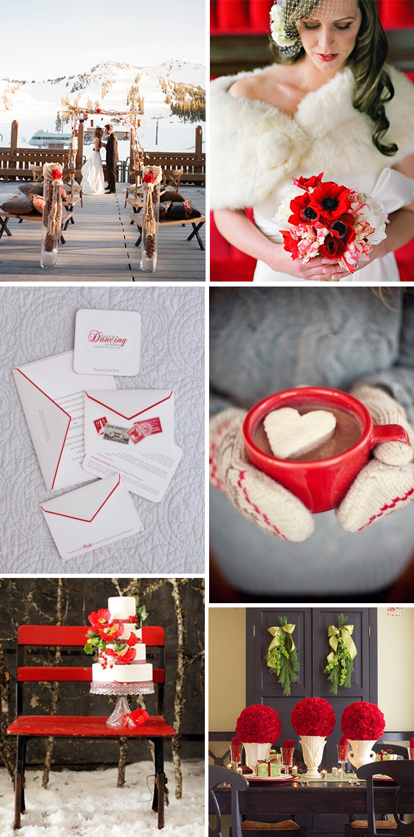 red winter weddings