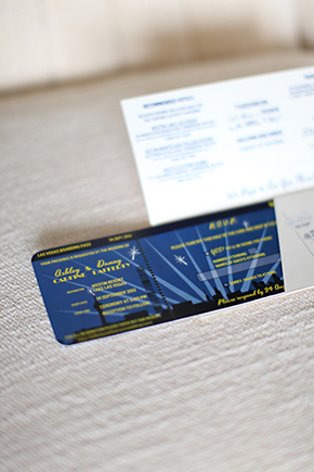 ticket wedding invitation1 Lake Las Vegas Destination Wedding
