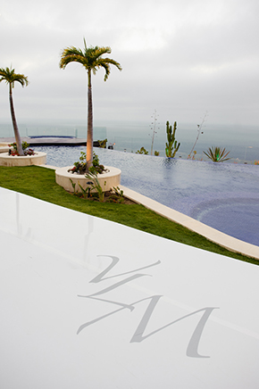 white custom dance floor wedding Cabo San Lucas Villa Destination Wedding