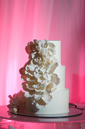 white wedding cakes Cabo San Lucas Villa Destination Wedding