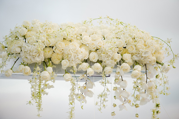 white wedding flower ideas Cabo San Lucas Villa Destination Wedding