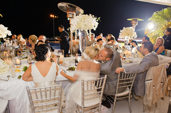 white wedding flowers Cabo San Lucas Villa Destination Wedding
