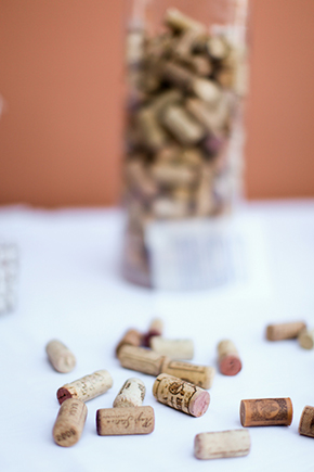 wine cork guest book Lake Las Vegas Destination Wedding