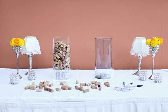 wine cork guest books Lake Las Vegas Destination Wedding