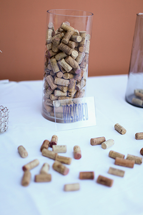 wine guest book Lake Las Vegas Destination Wedding