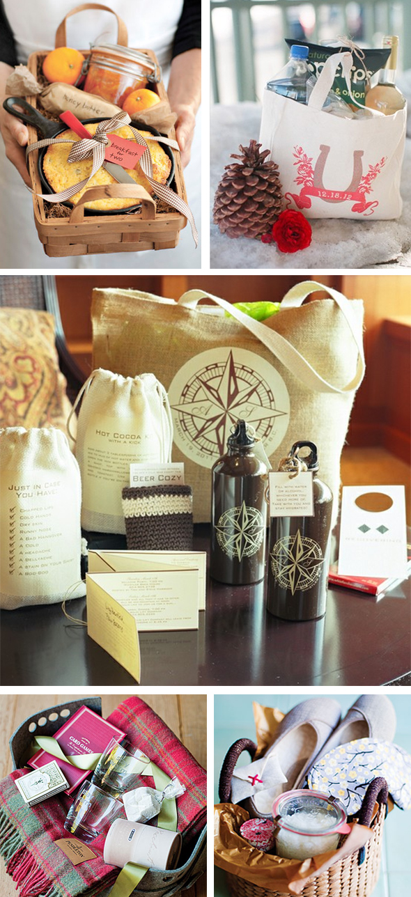 winter wedding welcome bags