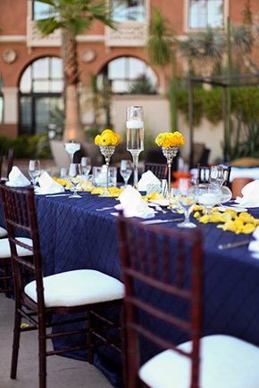 yellow and purple weddings Lake Las Vegas Destination Wedding