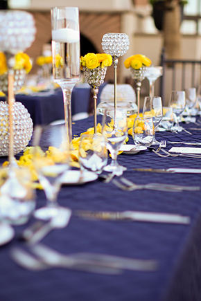 yellow wedding flowers Lake Las Vegas Destination Wedding