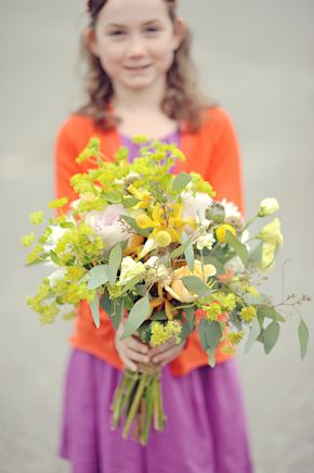 flower girl bouquet Elopement on Vancouver Island, BC