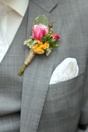 grey grooms suit Intimate Destination Wedding in Tuscany, Italy