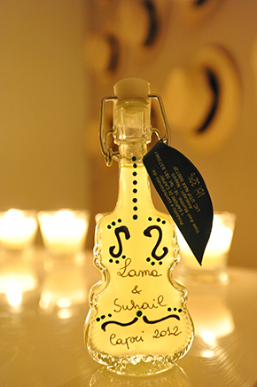 limoncello wedding favor Capri, Italy Three Day Destination Wedding, Part Two