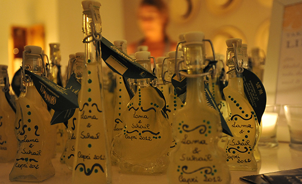 limoncello wedding favors Capri, Italy Three Day Destination Wedding, Part Two