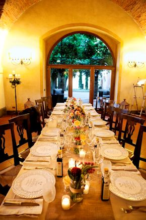 long wedding tables1 Intimate Destination Wedding in Tuscany, Italy