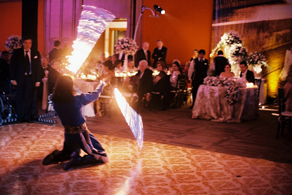 mexico fire dancers at weddings