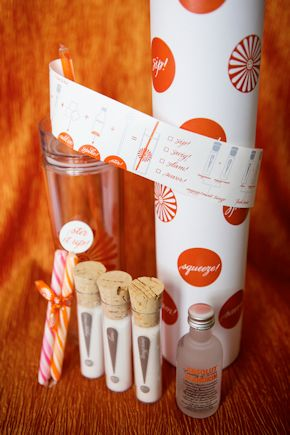 orange wedding details Destination Wedding Welcome Bag Ideas