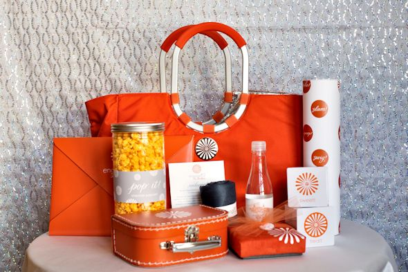orange wedding welcome bags