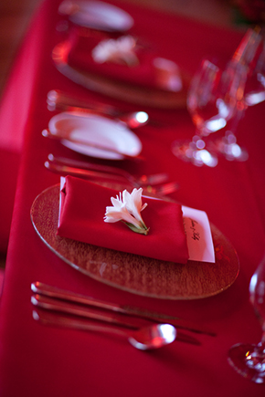 red wedding details Wedding at the Four Seasons Koele Lodge Lanai, Hawaii