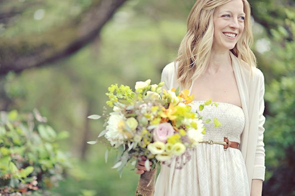 rustic bouquets Elopement on Vancouver Island, BC