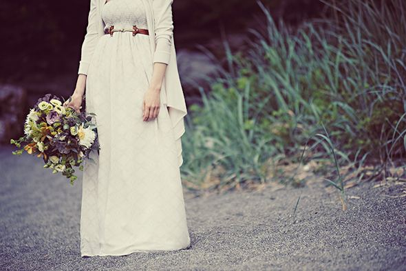 rustic bridal bouquet Elopement on Vancouver Island, BC