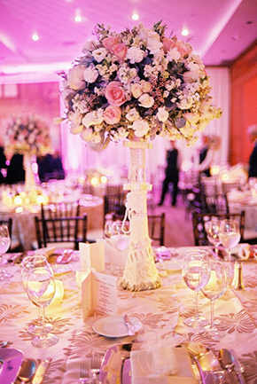 tall wedding centerpieces Destination Wedding in Guadalajara, Mexico