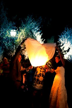 wedding latern Intimate Destination Wedding in Tuscany, Italy