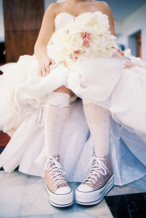 wedding sneakers for the bride