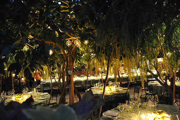wedding tree ideas Capri, Italy Wedding Welcome Dinner
