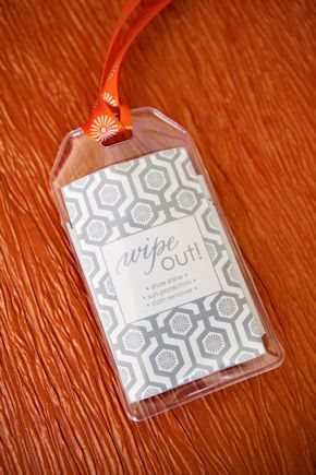 welcome bag tags Destination Wedding Welcome Bag Ideas
