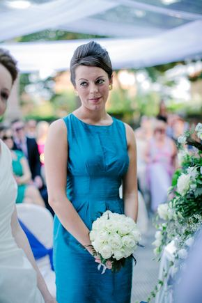 blue bridesmaid dresses Destination Wedding in Imperia, Italy