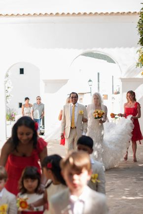 destination wedding Red + White Destination Wedding in Ibiza, Spain
