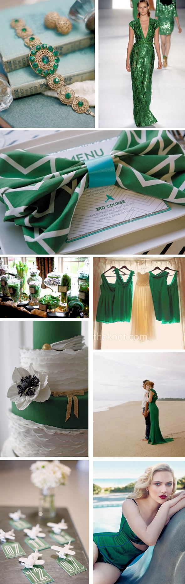 emerald green weddings