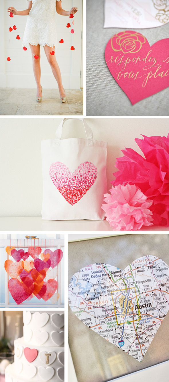 heart themed weddings