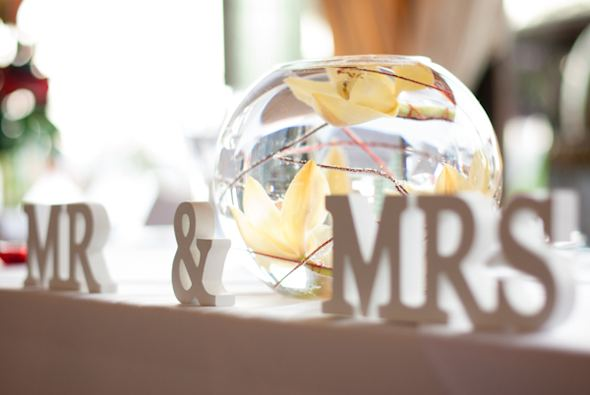 mr and mrs signs Red + White Destination Wedding in Ibiza, Spain