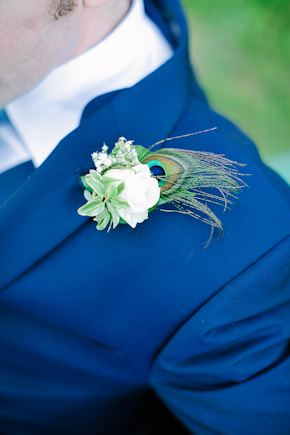 peacock wedding flowers