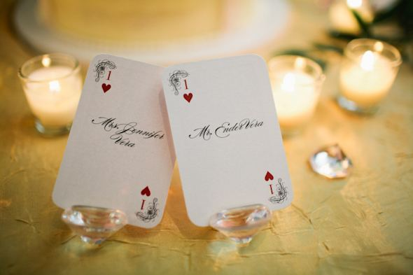 playing card place cards