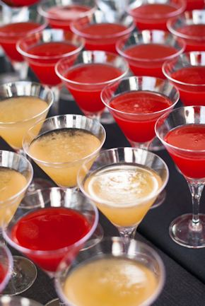 red wedding cocktails