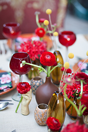 red wedding flower ideas Mexico Destination Wedding Table Ideas