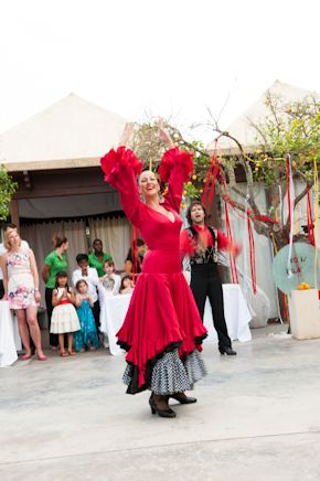 spanish wedding entertainment Red + White Destination Wedding in Ibiza, Spain