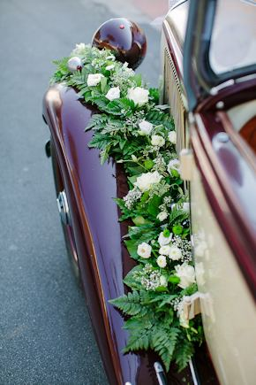 wedding car decorations Destination Wedding in Imperia, Italy