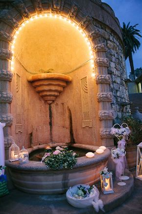 wedding fountains Destination Wedding in Imperia, Italy